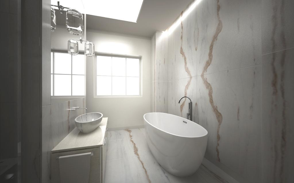 Bagno bianco lasa con ca marmi - Bagno in marmo bianco ...