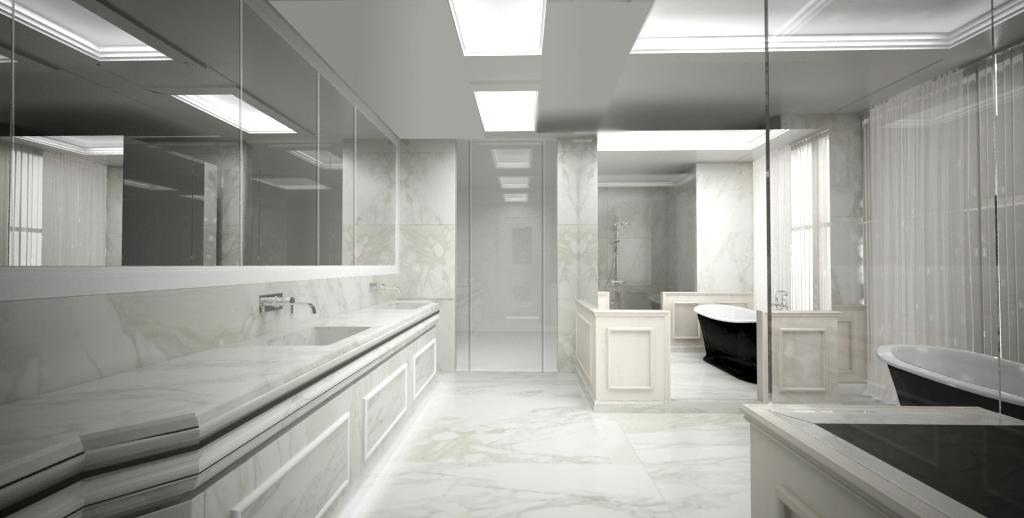 Bagno boiserie marmo bianco statuario u2013 con.ca marmi