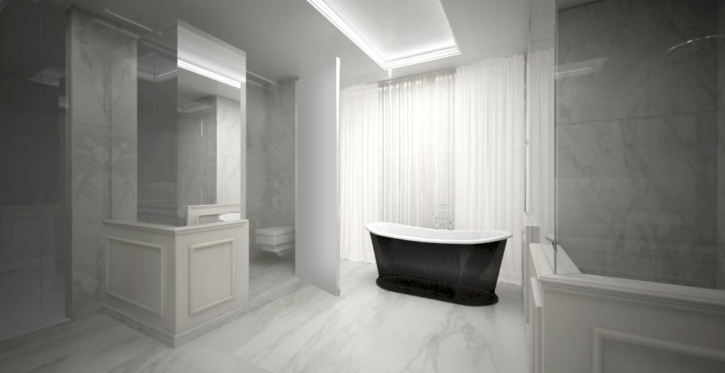 Bagno boiserie marmo bianco statuario u con marmi
