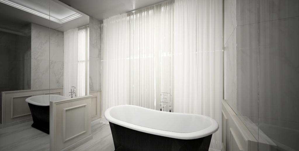 Bagno boiserie marmo bianco statuario con ca marmi - Bagno marmo bianco ...