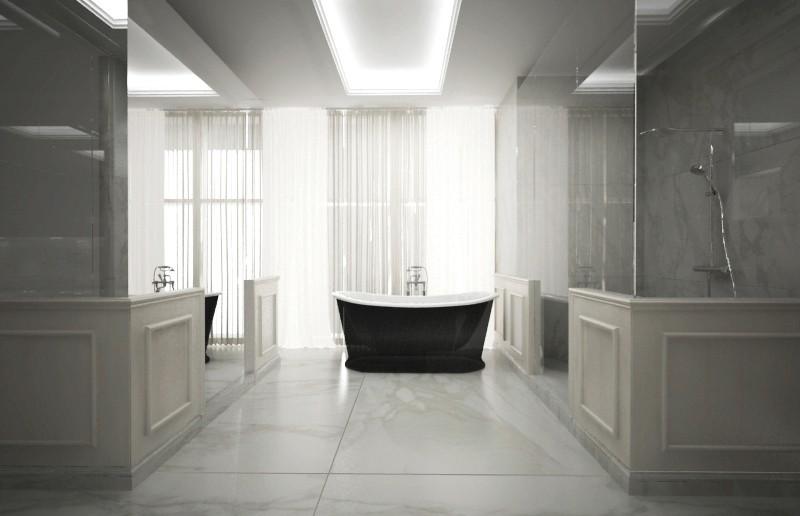 Bagno bronze amani con ca marmi - Bagno in marmo bianco ...